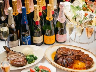 Empire Steak House Roppongi|日本レストラン史上初 5ブランドのマグナムボトルシャンパーニュがフリーフローで競演