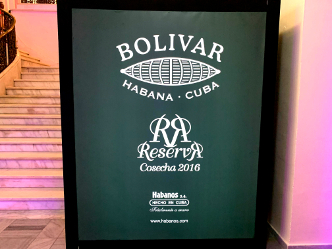 XXII Habanos Festival - Welcome evening Bolivar and specially